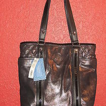 Simply Vera Wang Nwt 139 Shimr Snak  Tote  Black and Gold Shimmer Women's  Photo