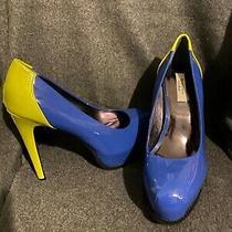 Simply Vera Wang Platform Svdaniblue Blue Lime Heel Pumps Womens Size 8 Photo