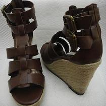 Simply Vera Wang  Platform Wedge Sandals...size 6m...brown - Eucnew Photo