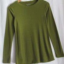Simply Vera Wang Size S Olive Green Long Sleeved Tee Shirt Top Nwt So Soft Photo