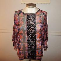 Simply Vera Wang Water Color Top Size M Sequins  Photo