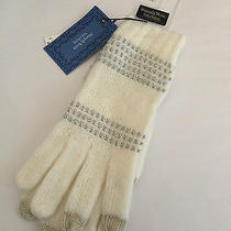Simply Vera Wang Whisper White Cold Weather Gloves Nwt 30 Free Ship Photo