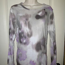 Simply Vera Wang Women M Abstract Floral Shirt Long Sleeved Super Soft Photo