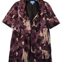 Simply Vera Wang Womens S Purple Satin Short Sleeve Formal Duster Jacket Photo