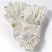 Simply Vera Wang Womens Whisper White Ladies Sparkle & Fade Tech Gloves Photo