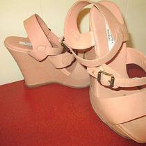 Simplyvera Blush Wedge Strappy Sandal Sz 8m Gently Worn Photo