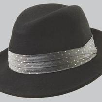 Sinatra Fs2-Blk4 1/wool Felt Fedora W/fancy Trm Photo