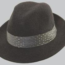 Sinatra Fs2-Char1 1/wool Felt Fedora W/fancy Trm Photo