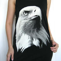 Singlet Dress Top Shirt Eagle Biker Punk Rock Fashion Indie Art Motorbike Pop M Photo