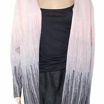 Sioni Womens Sweater Blush Pink Size Small S Colorblock Stripe Cardigan 55 363 Photo