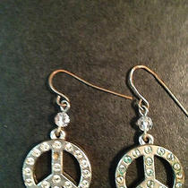 Sisi Amber Peace Swarovski Crystal Earrings Pre-Owned Photo