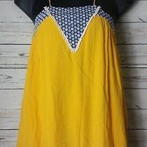 Sister Kates Boutique Womens S Small Boho Above Knee Dress Tassle Fringe Yellow Photo
