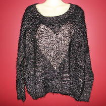Sisters Women's Black/gold Supersoft Knit L/s