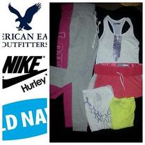 Six-Name Brand Active Wear Mixed Lot- Nike - American Eagle - Hurley - Old Navy Photo