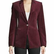 Size 00 495 Theory Power One-Button Modern Corduroy Jacket Blazer New Photo