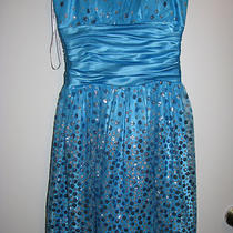 Size 1/2 Aqua Party/prom Dress-Short Photo