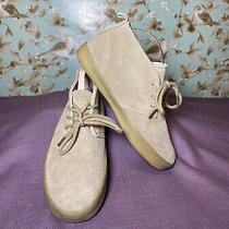 Size 1 Big Boy  Gap Chukka Boots Beige Suede Leather Lace Up Photo