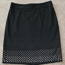 Size 10 Black Skirt With Beads and Grommets on the Bottom by Grace Elements Photo