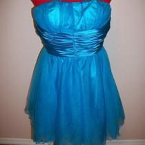 Size 10 Dancing Queen Xl Blue 8012 Strapless Party Dance Clubwear Fun Dress Photo