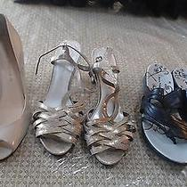 Size 11 Lot of 3 Mix Heels Shoes by Etienne Aigner Marc Fisher Bare Traps Photo