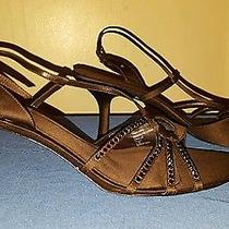 Size 11m Brown Jeweled Elements by Nina Sandal Pumps Photo