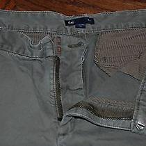 Size 12 Gap 100% Cotton Green Pants Photo
