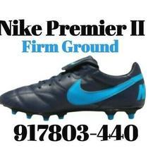 Size 13 Nike Premier Ii Fg Blue/black Kangaroo Leather Soccer Cleats 917803-440 Photo