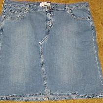 Size 18 Misses Levi Strauss Blue Jean Stretch Skirt   Photo