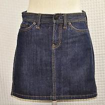 Size 2 Gap Dark Wash Denim Skirt Above Knee Jean Mini Women's New Xs Photo