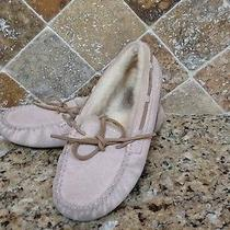 Size 2 Genuine Ugg Girl's Tan Moccasins Photo