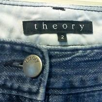 Size 2 Theory Women's Blue Denim Jeans (30.5