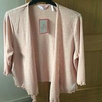 Size 20 22 Blush Pink Glitter Stretch Shrug Cardigan Cover Up Top Julipa Bnwt Photo