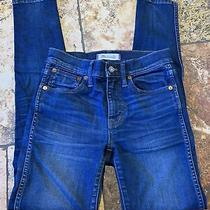 Size 24 Madewell 9 High Rise Skinny Jeans Blue Denim Photo