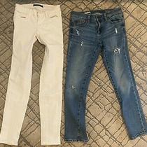 Size 24 Petite Jean Bundle J Brand White Skinny & Gap 24r Distressed Girlfriend Photo