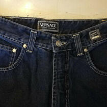 Size 30w 32l Navy Blue Gold Head Medusa Versace Jeans Photo