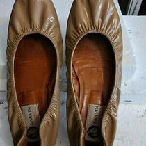 Size 38 Lanvin Nude Patent Leather Classic Ballerina Ballet Flats Shoe Photo