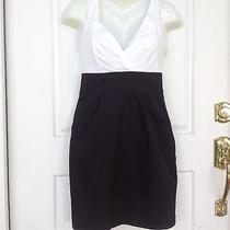 Size 4 Express Gorgeous Black and White Dress Photo