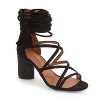 Size 5 Jeffrey Campbell Despina Black Suede Strappy Sandals  Photo