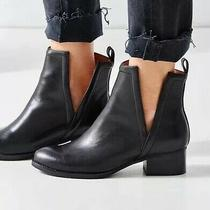 Size 5 Jeffrey Campbell o'riley Black Leather Cutout Ankle Boots  Photo