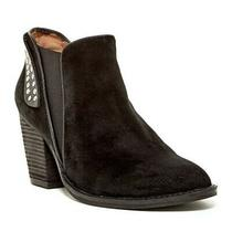 Size 6.5 Jeffrey Campbell Kabru Black Suede Rounded Toe Studded Bootie Boot  Photo