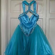 Size 6 Turquoise Knee-Length Prom Formal Dress by Blush Prom by Alexis Photo