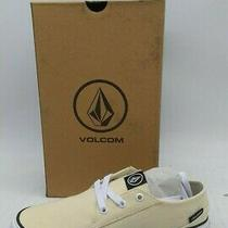 Size 6 Volcom Women's Lo Fi Ankle-High Canvas Sneaker (Light Yellow) Photo