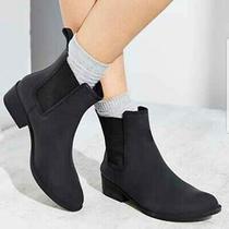 Size 7 Jeffrey Campbell Forecast Black Rubber Rain Boots Ankle  Photo