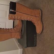 Size 7 Junior Timberlands (Size 8 1/2 or 9 in Women) Tall Boots  Photo