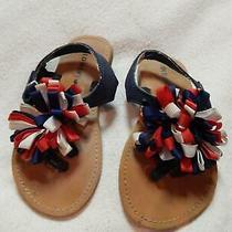 Size 7 Old Navy Sandals Red White Blue July 4th Patriotic Photo