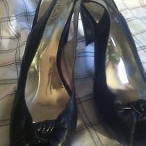 Size 8 1/2 Ladies Shoes/black Guess  Leather Shoes/ Wedding Guest Shoes Photo