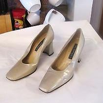 Size 8.5 N Great Vintage via Spiga Leather Pumps Made in Italy Photo