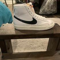 Size 8 - Nike Blazer Mid 77 White With Black Sail Photo