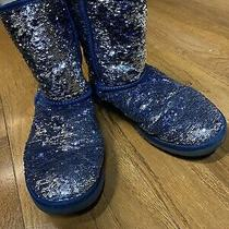Size 8 Sequin Ugg Boots -Slip on - Blue Photo