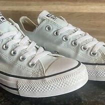 Size 8- Womens Sky Blue Converse All Star Sneaker Shoe Photo